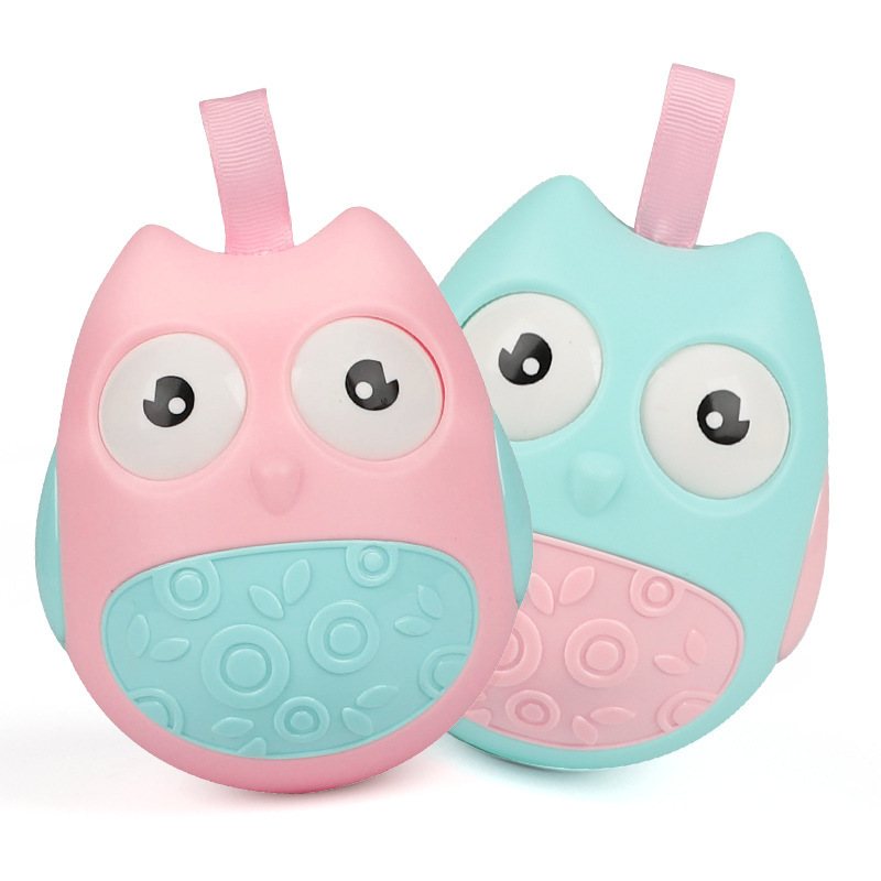 [Small Commodity] Infants New Style Fun Owl Tumbler 3-6-9 Month Baby Grasping Toy