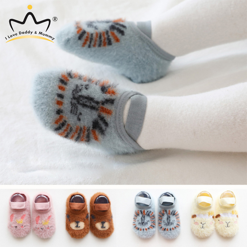 Winter Soft Cotton Anti Slip Newborn Baby Shoes Cartoon Animal Baby Boy Girl Shoes Toddler Shoes Non Slip Floor First Walkers