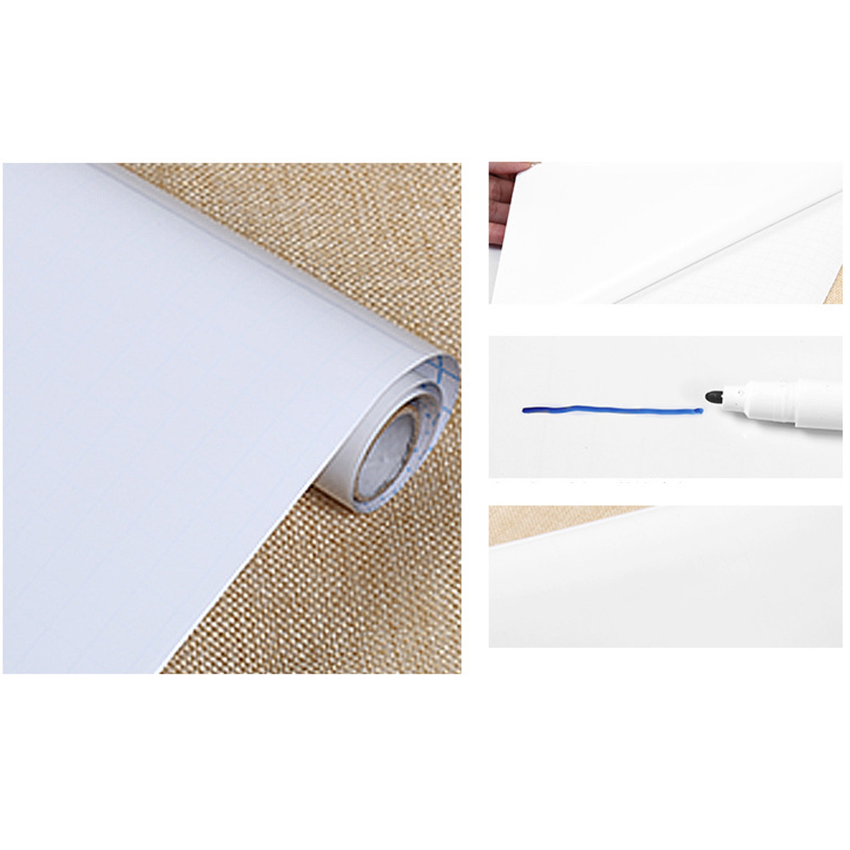 Whiteboard Sticker White Board Self-adhesive Writing Memo Board Removable Wall Sticker For Office School Home Wallpaper