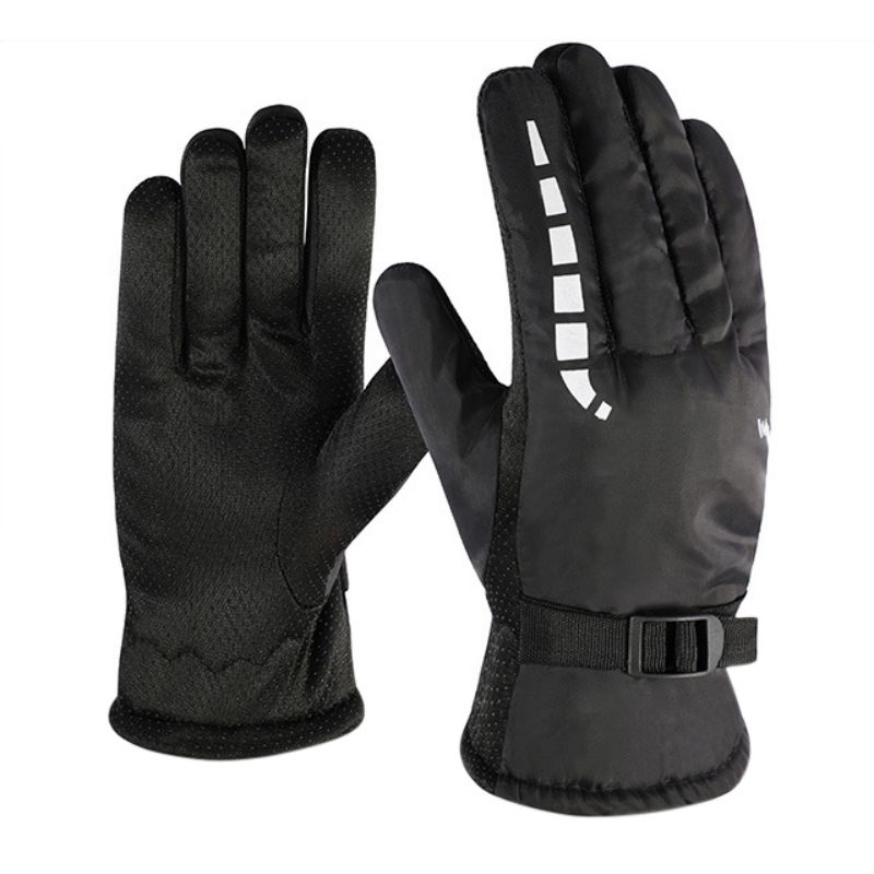 Ski Gloves Waterproof Autumn Winter Windproof Warm Non-slip Outdoor Bicycle Riding Motorcycle Gloves Cold Wear Velvet Thickening