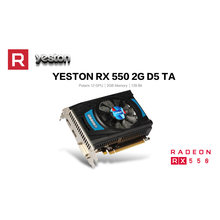 Yeston RX550-2G D5 TA Placas Gráficas Radeon Chill 2GB de Memória GDDR5 128Bit 6000MHz DP + HDMI + DVI-D placa Gráfica