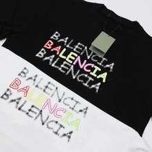 T-shirt à manches courtes noir pour homme, brodé en coton, collection printemps-été 2020