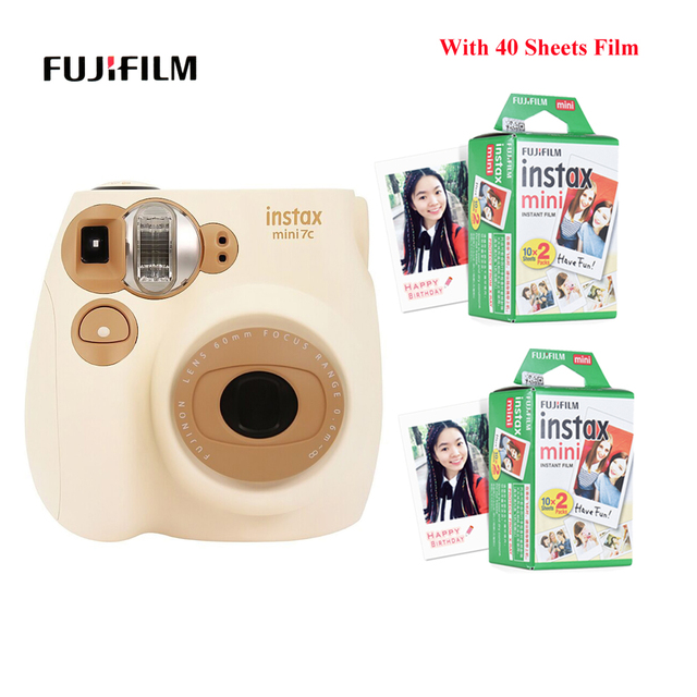 Fujifilm Instax Mini Film caméra Mini7c Mini 7C appareil photo instantané moins cher que Instax mini8 mini9 anniversaire noël nouvel an cadeau