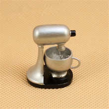 Miniature-Accessories Dollhouse Modern-Blender Kitchen Family 1:12 Silver Lovely