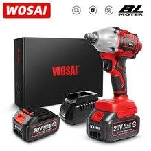 WOSAI – clé à chocs électrique série MT, perceuse, clé sans balais 20V, batterie Li-ion, clé sans fil, prise, outils électriques d'installation