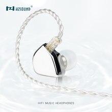 HZSOUND – écouteurs intra-auriculaires à diaphragme en carbone, avec câble à 2 broches de 0.78mm, unité d'entraînement, avec miroir de cœur, 10mm