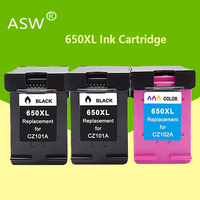 ASW 650XL Compatível Substituição Do Cartucho De Tinta para HP 650 XL para HP Deskjet 1015 1515 2515 2545 2645 3515 3545 4515 4645 printer