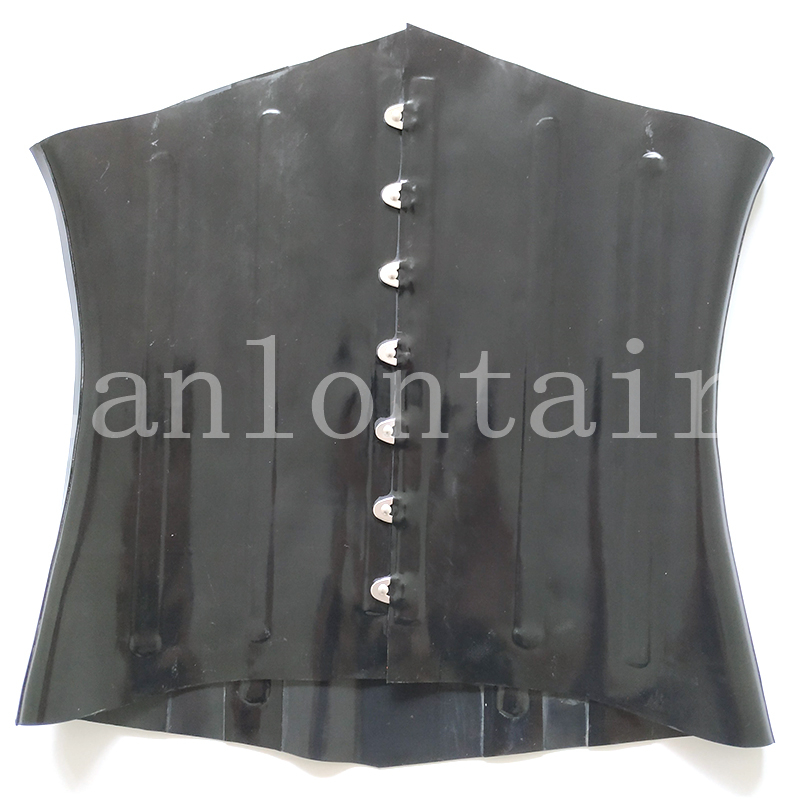 new hot sexy <font><b>lingerie</b></font> handmade women cekc girl female black front buckles corset slim tight customize size <font><b>XS</b></font>-XXL free ship image