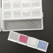 24 Lattice Seperated Jewelry Box Transparent Storage Practical Adjustable Plastic Case For Rings Earrings
