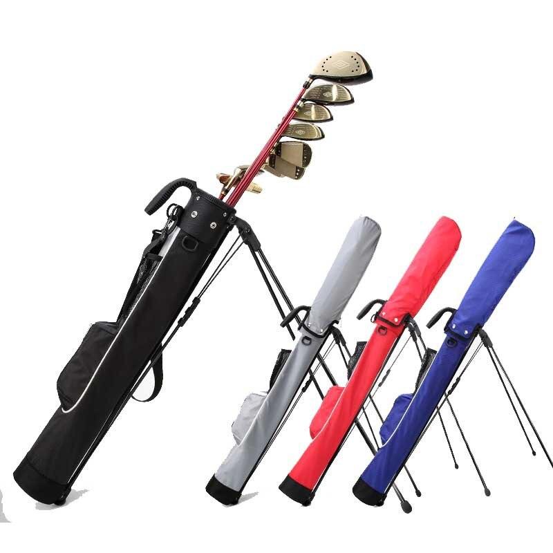 קל משקל עמיד למים גולף תמיכה תיק נייד גדול קיבולת גולף Stand לשאת תיק גולף מועדוני תיק עם סוגר אקדח מתלה שקיות
