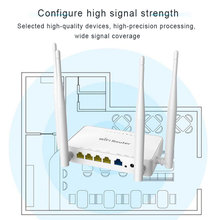 Wireless Router Usb-Modem Zbt We1626 Openwrt/omni-Ii Antennas Access 300mbps 4-External