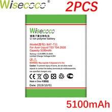 Wisecoco 2 uds BAT-T11 (1ICP4/68/88) 5100mAh batería de nueva producción para ACER Liquid T03 T04 Z630 Z 630 reemplazo de batería de teléfono