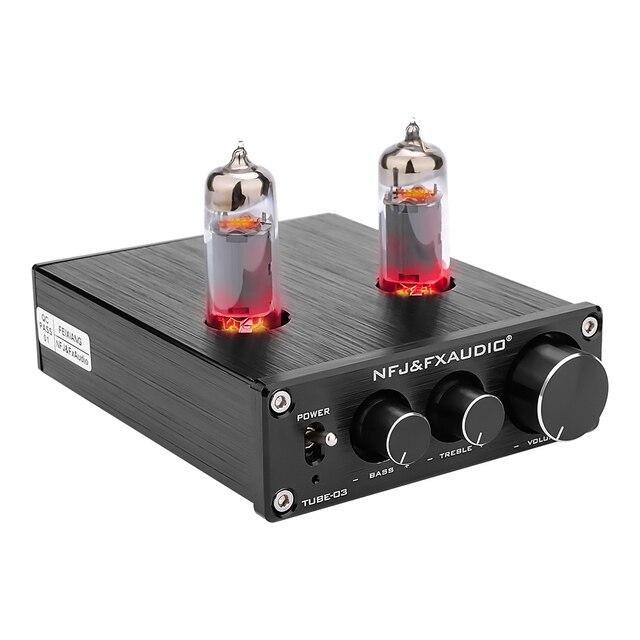 FX Audio TUBE 03 MINI Bile Preamp Tube Amplifier Buffer HIFI Audio Preamplifier With Treble Bass Adjustment Pre amps