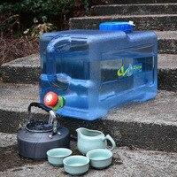 12l leve portátil acampamento ao ar livre carro portador de água balde recipiente de armazenamento com alça & água da torneira|null|Esporte e Lazer -