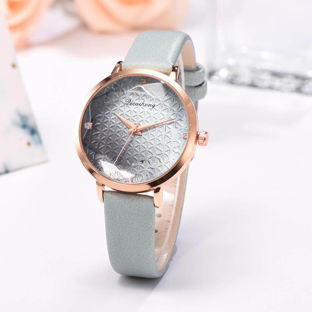 Women Wrist Watch Reloj Mujer Simple Gradient Dial With Diamond Ultra Thin Leather Belt Ladies Quartz Watches
