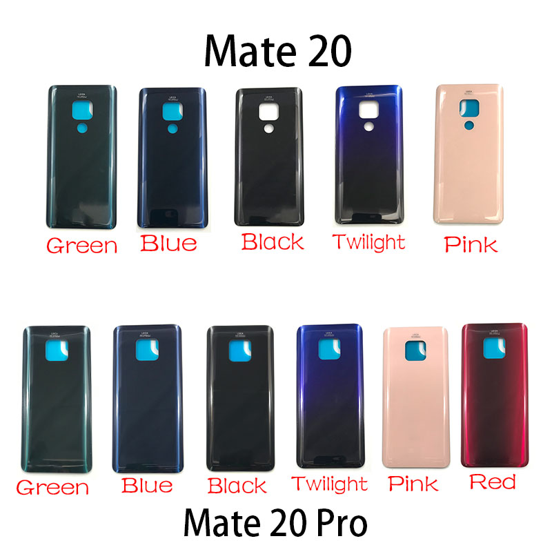New Back Glass Rear Cover For Huawei Mate 20 Pro Battery Door Housing Battery Back Cover