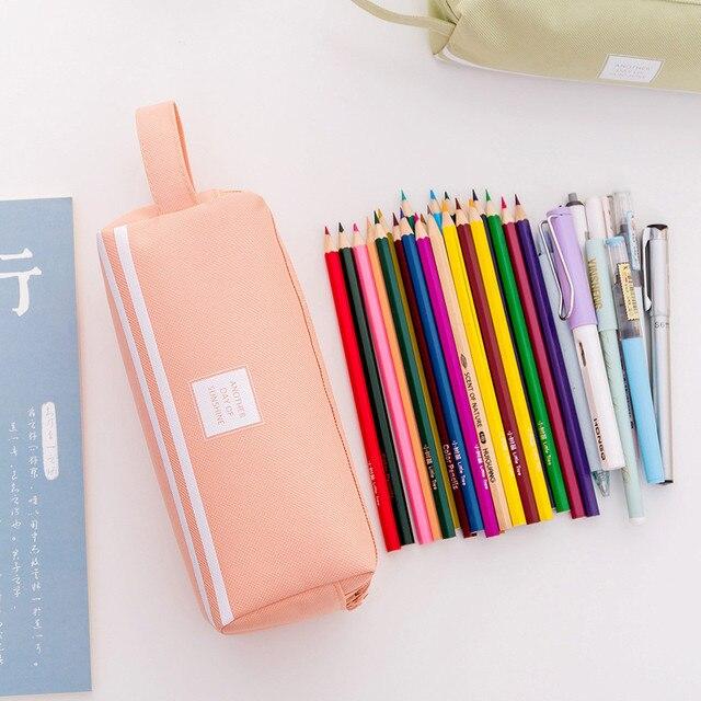 40 @ lápiz bolsa de gran capacidad lápiz estuche de bolígrafo de por medio de la Oficina de la Escuela de la Universidad chica estuche escolar bolsas para la escuela