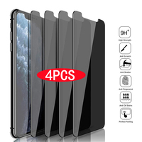 1-4Pcs Anti-spy Glas für IPhone 11 12 Pro Max Mini XS XR X Privatsphäre Bildschirm protektoren für IPhone 7 8 6S Plus Anti-peeping Film