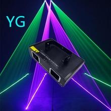 Vendas quentes 2 lente vermelho verde azul rgb feixe de luz laser dmx 512 profissional dj party mostrar clube casa férias barra iluminação palco