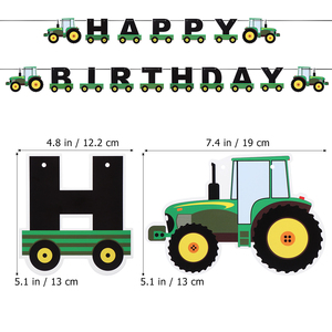 Image 4 - Tractor Birthday Banner Hanging Banners Ornaments Garland Bunting Pendant For Kids Birthday Party Favors Supplies Decorations