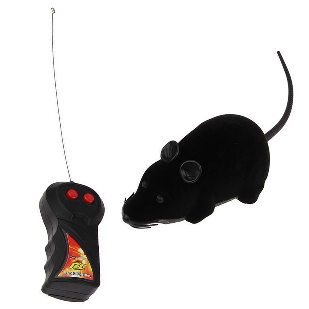OUTAD Electronic RC Mice Toy Pets Cat Toy Mouse Remote Control Rat Mouse Toy For Cat Pet Wireless Moving Mouse For Kids Toys