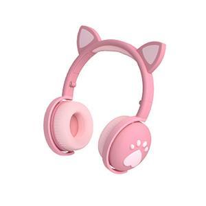 Проводная гарнитура 3 в 1 с TF-картой, наушники BK1 для девочек с Bluetooth, прекрасные модные детские наушники с кошачьими ушками, Bluetooth 5,0, наушники ...