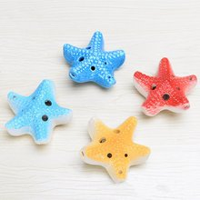 Orff-Instruments Ocarina Ceramics for 6-Holes Starfish-Shape Souvenir Birthday-Gifts