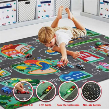 Child Play Mat Carpet Baby Crawling Blanket Floor Carpet Rug Mat Children Road Traffic Game Mat Town City Blanket Green Road 2017 hot sale fashion baby blanket game mat bear blanket baby tiger blanket animal carpet warm bear play mats autumn winter