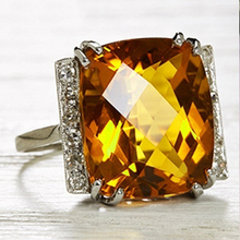 Luxury Female Champagne Crystal Stone Ring Charm Silver Color Bride Wedding Rings For Women Cute Square Zircon Engagement Ring
