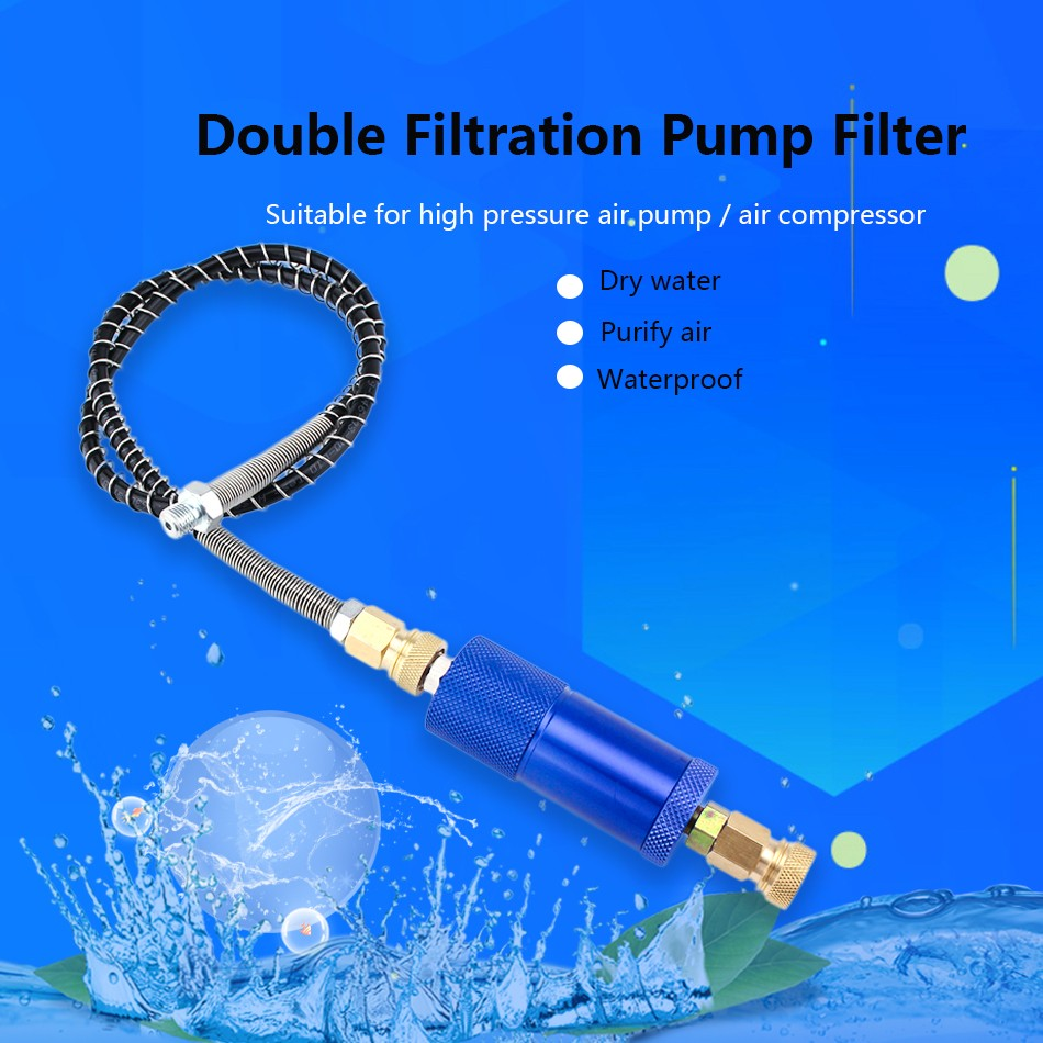 PCP Paintball Airforce 8MM High Pressure Pump Filter 40mpa 50cm Hose M10x1 Water-Oil Separator Air Filtering Quick Connector