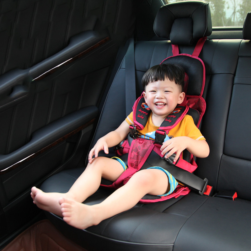 Baby Children's Safety Seat Portable Simple Cushion Car 3-12 Years Old Factory Direct One-Piece Hair