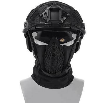 tactical full face mask hunting headgear balaclava mesh mask airsoft paintball game protective mask cs shooting ninja style mask Tactical Airsoft Paintball Mask Outdoor CS Shooting Hunting Headgear Balaclava Breathable Mesh Protective Helmet Mask Equipment