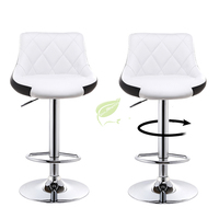European Modern Stylish Mix Color Soft Leather Bar Chairs Lift Adjustable Height Bar Stools Home Furniture Rotated Chair