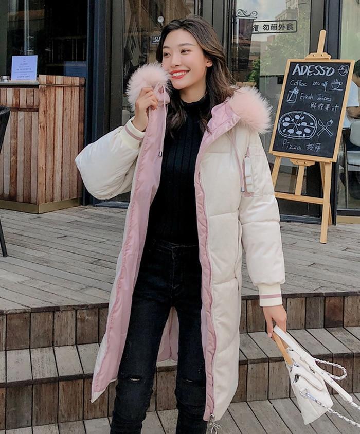2019 High Quality Winter Jacket Women Velvet Fabric Hooded Thicken Fur_B0_11