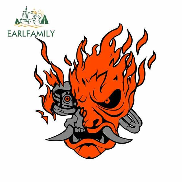 EARLFAMILY 13cm x 11.8cm for Samurai Funny Car Stickers Vinyl Car Sticker Waterproof Interesting Sun Protection Decals