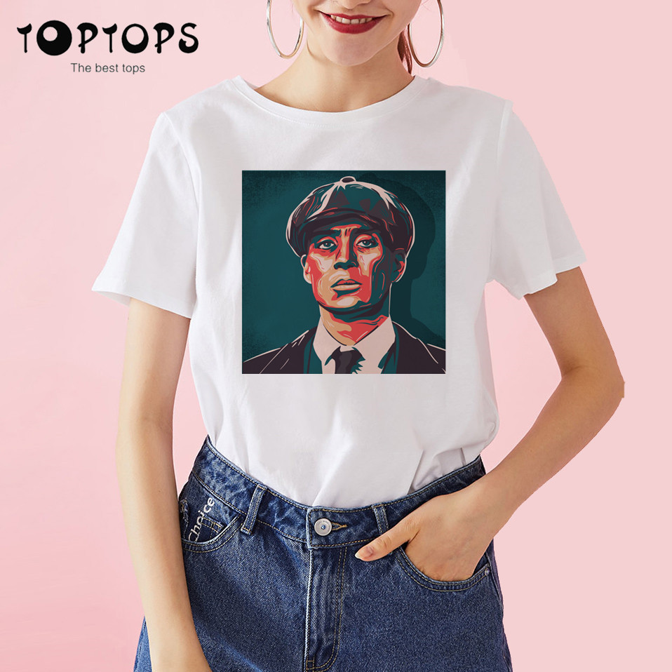 Women Peaky Blinders Human Women Harajuku T Shirt Unisex Skateboard Tshirt Man Clothes Streewear