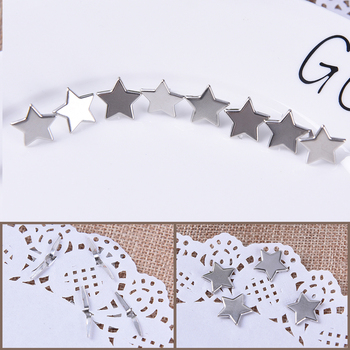 20Pcs Metal Mixed Pastel Star Brad Scrapbooking Embellishment Fastener Brads For shoes Decoration image