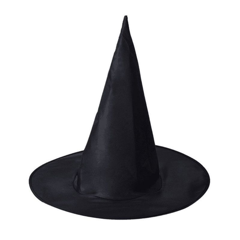 1PC Adult Children Black Wizard Witch Hat Pointed Top Magic Cap Masquerade Halloween Party Props Cosplay Costume Fancy Dress