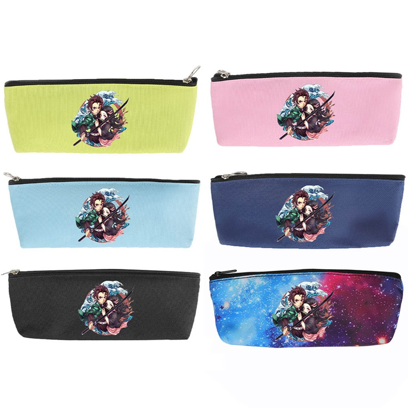 Anime Ghost Blade Cartoon Print Pen Bag Student Pencil Case Teenage Boy GirlStorage Bag Kids School Supplies Stationery