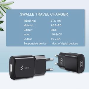 Image 2 - Swalle 5V 2.4A Plugs UE carregador de Alta qualidade carregador de viagem para o telefone móvel Novo carregador usb carregador portatil para smartphones