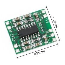 100 adet PAM8403 süper mini dijital amplifikatör kurulu 2*3W D sınıfı dijital amplifikatör kurulu verimli 2.5 5V USB güç kaynağı