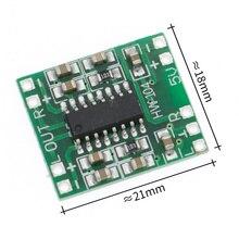 100 pces pam8403 super mini placa de amplificador digital 2*3 w classe d digital amplificador placa eficiente 2.5 a 5 v usb fonte alimentação