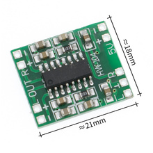 100PCS PAM8403 Super mini digital amplifier board 2 * 3W Class D digital amplifier board efficient 2.5 to 5V USB power supply