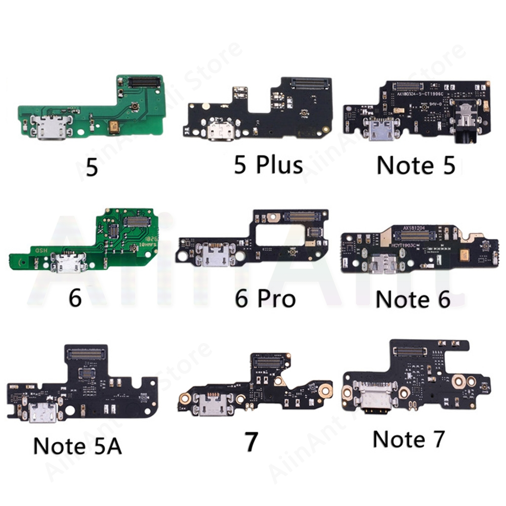 Original USB Date Charging Port Charger Dock Connector Flex Cable For Xiaomi Mi Redmi Note 5 5A 6 7 Plus Pro Global Replacement
