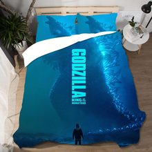 Godzilla Printing Cotton Bedding Sets Home Textile Queen King Size 3D Set Duvet Cover Bed Sheets Pillow Cases Linen