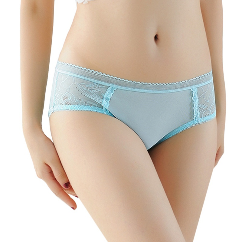 Sexy Low Waist Underpants Lingerie Transparent Jacquard Ultra-thin Panties Sexy Mesh Openwork Temptation Briefs