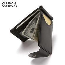 Caso de cartão de crédito de identificação de negócios carteira de couro de couro de couro de couro