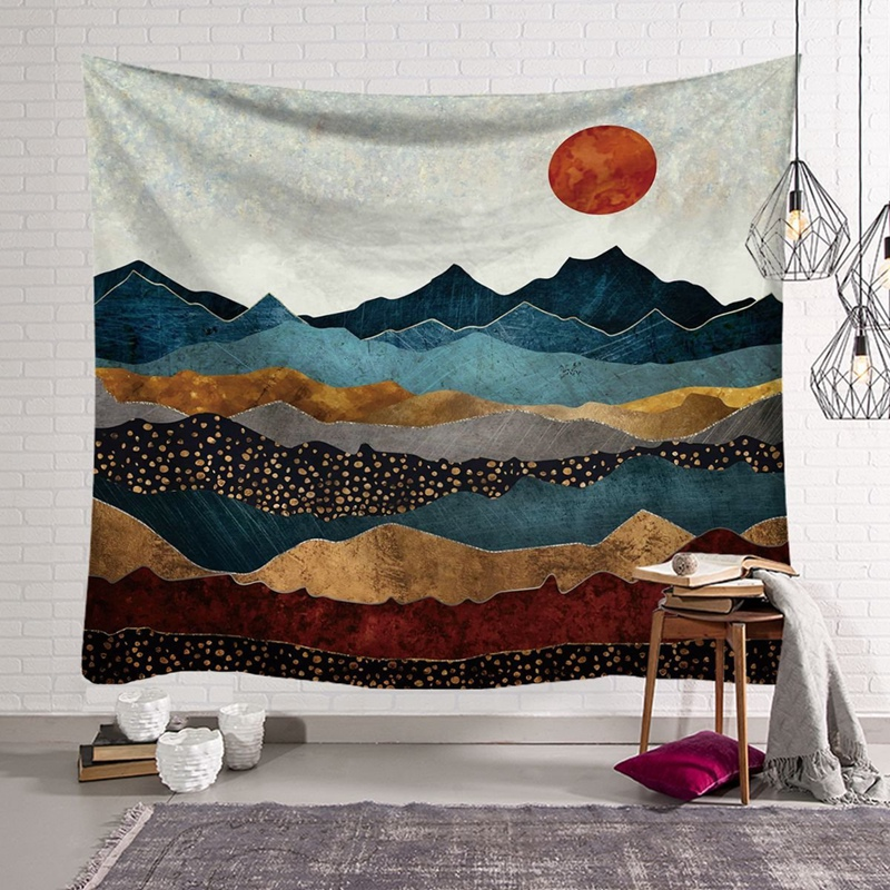 Sunset Wall Tapestry Natural Tapestry Wall-Mounted Bedroom Living Room And Dormitory Scenic Wall Blanket