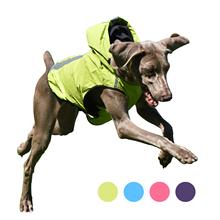 Pet płaszcz przeciwdeszczowy dla psów odblaskowa kamizelka dla małych średnich duże psy wodoodporne ubrania na świeże powietrze dla zwierząt domowych kurtka Ropa Para Perros tanie tanio CN (pochodzenie) CWCL034 Stałe Poliester