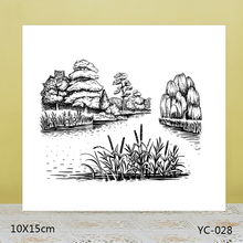 AZSG Creek in the forest Clear Stamps For DIY Scrapbooking/Card Making/Album Decorative Rubber Stamp Crafts azsg creek in the forest clear stamps for diy scrapbooking card making album decorative rubber stamp crafts